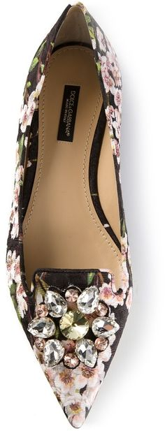 Dolce & Gabbana floral print slippers on shopstyle.com
