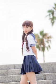 School Girl Outfit, Girl Outfits, Pleated Mini Skirt, Mini Skirts, Japanese School Uniform, Sailor Fashion, Girls Gallery, High School Girls, Asia Girl