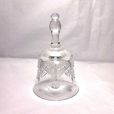 Vintage Thomas Webb of England glass bell commemorating the 1981 royal wedding of Prince Charles and Lady Diana Spencer.