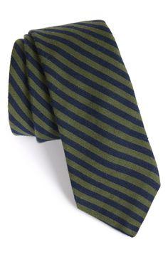 Todd Snyder White Label Stripe Cotton & Silk Tie