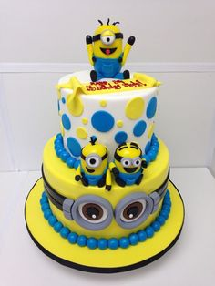 Pleasant 33 Best Kids Minion Theme Cake Images Minion Theme Minion Funny Birthday Cards Online Aeocydamsfinfo