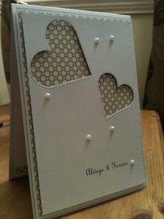 Wedding or engagement card by ParticularlyLovely on Etsy, £3.00