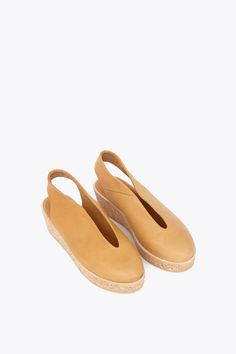 Reality Studio June Wedges (Cognac Leather)