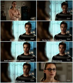 Oh, Mon-El. FINALLY, he's honest with Kara. His utter shame at what he was/where he came from colors this whole speech, and I <3 how Kara's clearly struggling to deal with the (justified) anger/hurt that stems from the fact that she cares deeply for him. |TV Shows||CW||#Supergirl edit||Season 2||2x16||Star-Crossed||Kara x Mon-El||#Karamel edit||Kara Danvers||Melissa Benoist||Chris Wood||#DCTV|