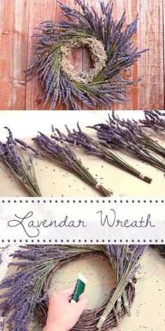 you take down the Christmas decorations, the house always looks so bare. Replace the holiday wreath with this amazing lavender wreath instead! Cheap and easy to make, and a wonderful way to bring life into your home! Lavender Crafts, Lavender Wreath, Lavander, Lavender Decor, Holiday Wreaths, Christmas Decorations, Winter Wreaths, Spring Wreaths, Summer Wreath