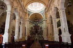 The Beautiful Church of Iglesia San Francisco de Asis in Havana, Cuba.