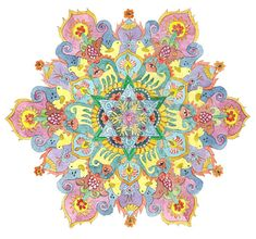 Happy Spring Mandala Handmade Fine Art Signed Print by mandalaway