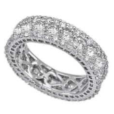 14k White gold 3.50ct Ladies diamond right hand ring
