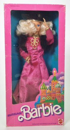 1988 RUSSIAN BARBIE DOLLS OF THE WORLD DOTW NRFB #Mattel #DollswithClothingAccessories