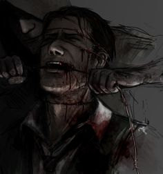 This is one of my favourite Ruvik/Sebastian fanarts and I get excited every time I find it again.