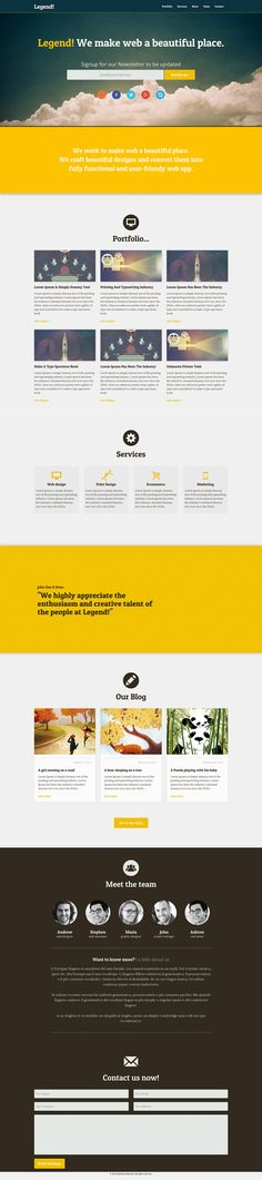 Legend: Free #Responsive One Page #Bootstrap Template