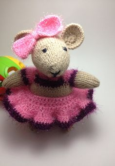 Knit and Crochet Mouse ballerina by DariaIsTheReason on Etsy, $25.00