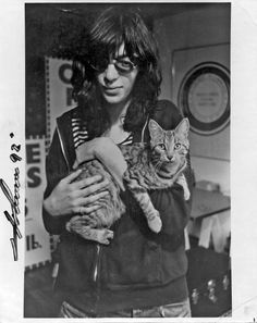 Joey Ramone and friend.