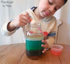 How to Make a Rainbow in a Jar