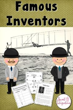 Learn about famous inventors and their inventions in this informational text unit. Included is a reading passage about Thomas Edison, PowerPoint of a famous inventor, graphic organizers, and more. Great for your 3rd, 4th, 5th, and 6th grade learners. (third, fourth, fifth, sixth graders, upper elementary, intermediate grades) #Inventors #UpperElementary #ThomasEdison Social Studies Resources, Teaching Social Studies, Jackson School, Science Projects For Kids, 21st Century Skills, Study History, Reading Intervention, Book Study, Reading Passages