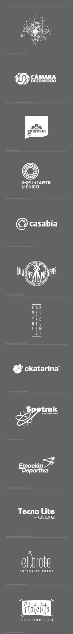Logos by Oscar Borrego, via Behance