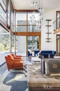 Would love to reinterpreate this space into a hotel public area - the squre lounge piece especially -- Contemporary Cream Great Room Sofa
