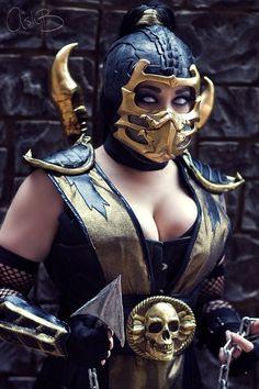 Scorpion (Mortal Kombat) Cosplay by Bethany Maddock Mortal Kombat Cosplay, Mortal Kombat Scorpion, Art Mortal Kombat, Epic Cosplay, Amazing Cosplay, Cosplay Outfits, Cosplay Girls, Skorpion Mortal Kombat, Mädchen In Bikinis
