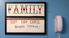 DIY Dry Erase Board by @frugalcrafter