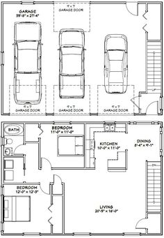 24 x 36 floor plans nominal size 24 x 52 actual size for 24x40 garage plans