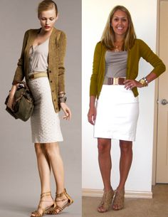 J's Everyday Fashion: Outfits - Cute look, but maybe sub sweater color with turquoise or bright yellow?