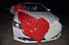 Decoración de auto para boda