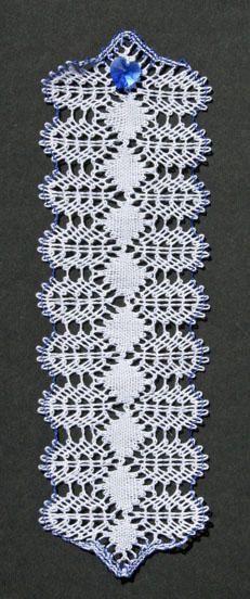 september birthstone bookmark torchon