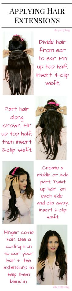 Super hair extensions clip in tutorial how to apply ideas Hair Extensions Tutorial, Human Hair Extensions, Clip In Hair Extensions Styles, Hair Day, New Hair, Girl Hair, Wedding Hairstyles, Cool Hairstyles, Super Hair