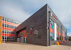 Colourful facade for Cardiff High School