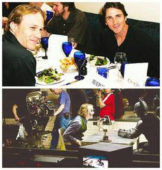 Christian Bale & Heath Ledger