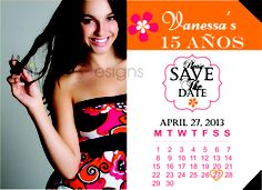 Quinceanera Save the Date Card