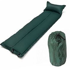 Green Portable Inflatable Air Mattress Bed For Camping ** More info could be found at the image url.