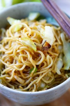 Panda Express Chow Mein - BEST copycat recipe ever that tastes EXACTLY like Panda Express. So good and easy, healthier, cheaper, and takes 15 mins! I Love Food, Good Food, Yummy Food, Asian Recipes, Chinese Recipes, Ethnic Recipes, Asian Foods, Oriental Recipes, Oriental Food