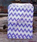 BLOWOUT Lavender Chevron Paper Treat Bags - (12 PCS) - 1.25