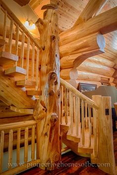log homes, log stairs, log floors, pioneer log homes