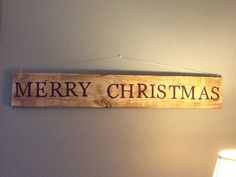 My friend made this sweet Country Christmas Sign from old pallet wood..
