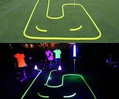 Glow In The Dark Mini Golf Kit