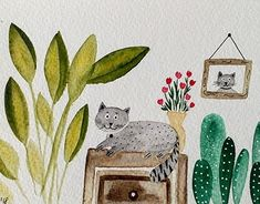 """Check out new work on my @Behance portfolio: """"Cats love plants"""" http://be.net/gallery/62994739/Cats-love-plants"""