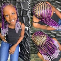 A selection of 50 kids braids with beads hairstyles to get your kids holiday ready. From kids braided updos with beads, to single braids with beads. Little Girl Braid Styles, Kid Braid Styles, Little Girl Braids, Black Girl Braids, Braids For Black Hair, Hair Styles, Black Curls, Cornrow Styles For Kids, Black Kids Hairstyles