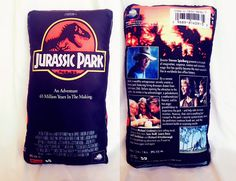 Jurassic Park 1993 VHS oversized pillow by TheUFOparty on Etsy Jurassic World 2015, Jurassic Park Series, Jurassic Park 1993, Jurassic Movies, Really Good Movies, Oversized Pillows, Vhs, The Good Dinosaur, Parking Design