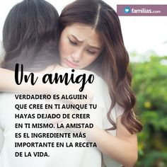 Un amigo verdadero cree en ti. Lucy Cass Best Quotes, Life Is Good, Friendship, Good Things, Thoughts, Words, Inspirational, Truths, Joy