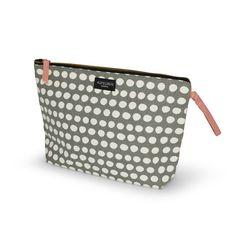 Aspegren-toiletbag-dot-warm-gray Canvas bag www. Warm Grey, Gray, Dots, Canvas, Stitches, Tela, Grey, Canvases