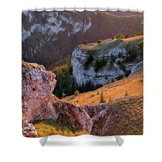 Sunset in rocky land. Picture printed on shower curtain. Beautiful Artwork, Beautiful Images, Nature Artists, Nature Artwork, Curtains For Sale, Botanical Art, Print Pictures, Art Market, Rocky Mountains