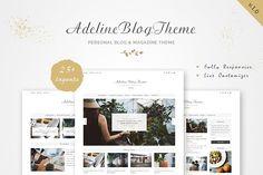 Adeline - Personal Blog & Magazine by GiaThemes on @creativemarket