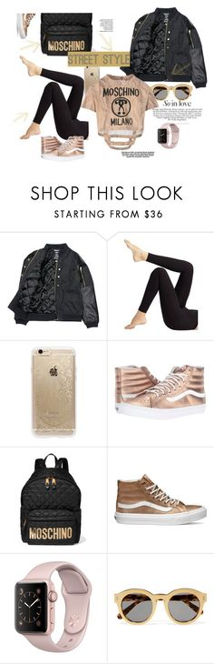 """""""Untitled #603"""" by elma-alibasic on Polyvore featuring Someday Soon, Wolford, Rifle Paper Co, Vans, Moschino and STELLA McCARTNEY"""