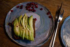 Avocado toast on handmade ceramics plates Ceramic Plates, Avocado Toast, Celery, Ceramics, Vegetables, Handmade, Food, Handmade Ceramic, Pottery Plates