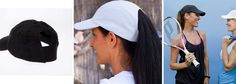 The new Athletic Hytail hat is a hat made for high ponytails. It keeps the sun off of your face and the hair off of your neck.