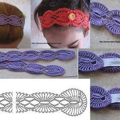 Exceptional Stitches Make a Crochet Hat Ideas. Extraordinary Stitches Make a Crochet Hat Ideas. Bandeau Crochet, Crochet Flower Headbands, Crochet Headband Pattern, Crochet Beanie, Crochet Chart, Crochet Motif, Diy Crochet, Crochet Stitches, Lace Patterns