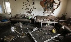 epa04742625 Interior view of a destroyed house in a neighborhood where a shooting took place between Macedonian police and an armed group in town of Kumanovo, 11 May 2015.At least eight police officers and 14 armed Albanians have been killed in a day-long gun battle in Kumanovo, a city in northern Macedonia, the Interior Ministry said on 10 May. Fighting in the ethnic Albanian town of Kumanovo, 40 kilometres north-east of the capital Skopje, has now subsided and the town is under police…