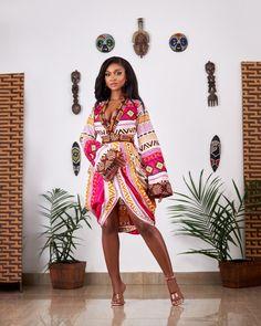 Ankara Dress, African Dress, Kimono Dress, Kimono Top, Traditional Outfits, Sexy Outfits, High Fashion, Evening Dresses, Short Dresses